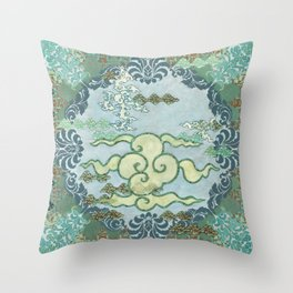 Chinese Cloudscape Throw Pillow