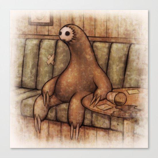 Drunk Sloth Canvas Print