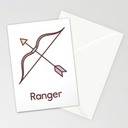 Cute Dungeons and Dragons Ranger class Stationery Cards