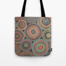 Boho Patchwork-Vintage colors Tote Bag