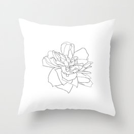 Single rose illustration - Magda Throw Pillow