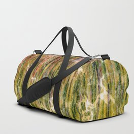 Marbled Metallic Grass Duffle Bag