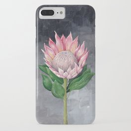Protea Flower Painting iPhone Case