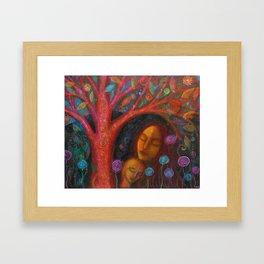 Mother Child Tree Framed Art Print