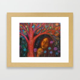 Mother Child Tree Framed Art Print
