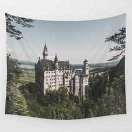 Neuschwanstein fairytale Castle - Landscape Photography Wall Tapestry