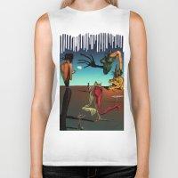 surrealism Biker Tanks featuring Surrealism No.1-4 by WROSIV