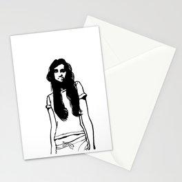 girl girl Stationery Cards