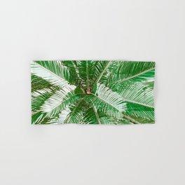 Green Palm Leaves Hand & Bath Towel