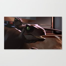 Raptors in the Kitchen Canvas Print