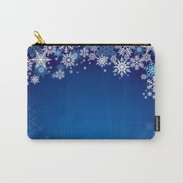 Snowflake background Carry-All Pouch