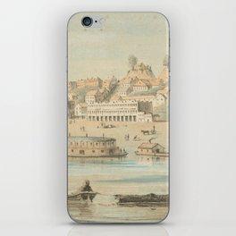 Vintage Pictorial View of Vicksburg MS (1854) iPhone Skin