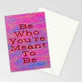 Be What You're Meant To Be (Pan edition) Stationery Cards