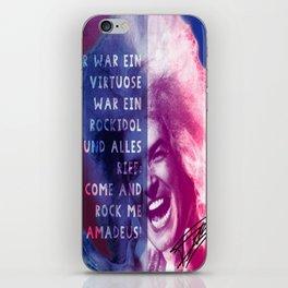 Rock Me Amadeus iPhone Skin