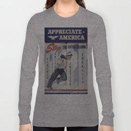 Vintage poster - Appreciate America Long Sleeve T-shirt