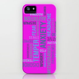 Anxiety 4 iPhone Case