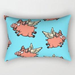 Pigs Can Fly Pattern Rectangular Pillow