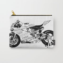 Motorcycle black and white, original race motorcycle Carry-All Pouch