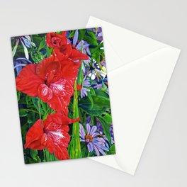 Gladiola's and Echinacea Stationery Cards