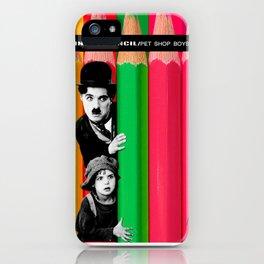 INTROSPENCIL / Pet Shop Boys - Introspective - The Kid Chaplin - Digital Illustration - Pop Art iPhone Case