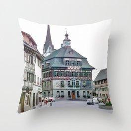 Stein am Rhein,Switzerland Throw Pillow