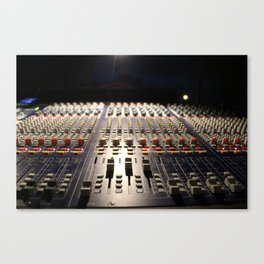 Nighttime Soundboard Photo Canvas Print