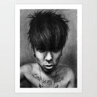 rock n roll Art Prints featuring Rock N Roll by ''Befne''