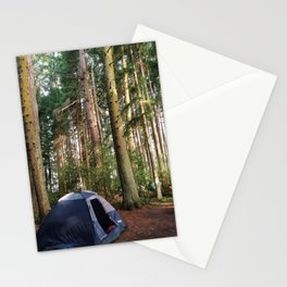 Tent Camping Kitsap Campground Stationery Cards