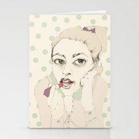 lipstick Stationery Cards featuring lipstick by Cecilia Sánchez