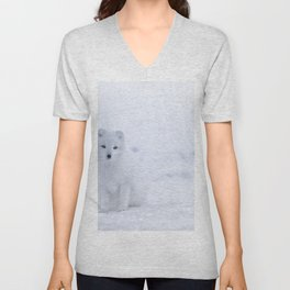 Arctic Fox (Color) Unisex V-Neck