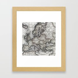 Old world map art print by toddspencer society6 old world map framed art print gumiabroncs Choice Image