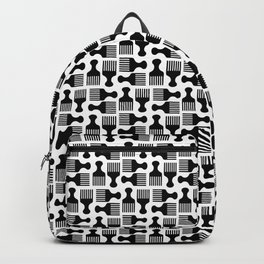 Pick Fros Not Fights™ / Frolab Signature Afro Pick Pattern Backpack