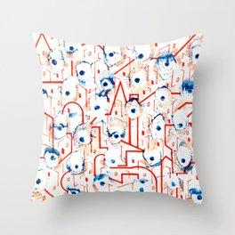 Modern City Throw Pillow