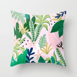 Into the jungle - sunrise Throw Pillow