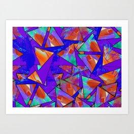 Blue Kaleidoscopic Art Print
