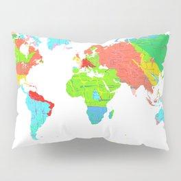 World Map - Watercolor 12 Pillow Sham