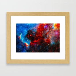 Dreamers In An Endless Universe, Galaxy Background, Universe Large Print, Space Wall Art Decor Framed Art Print
