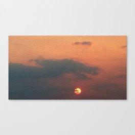 Dragon steals the Sun Canvas Print