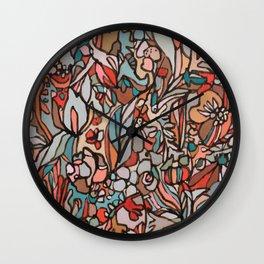 redsalmonturq Wall Clock