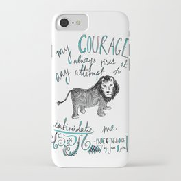 COURAGE: PRIDE AND PREJUDICE by JANE AUSTEN iPhone Case