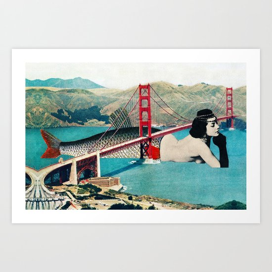 Mermaid Three Art Print