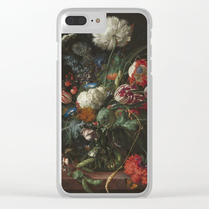 Jan Davidsz de Heem - Vase of Flowers (c.1660) Clear iPhone Case