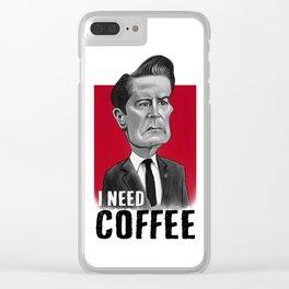 Twin Peaks - Coop Needs Coffee Clear iPhone Case