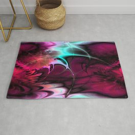 Psychedelic Waves (amaranth) Rug