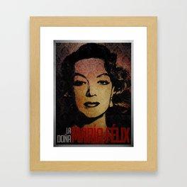 María Félix Framed Art Print