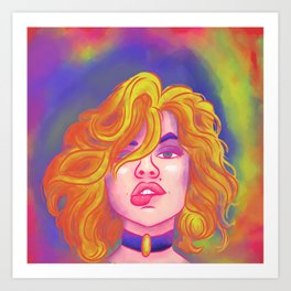 Lady Bright Art Print