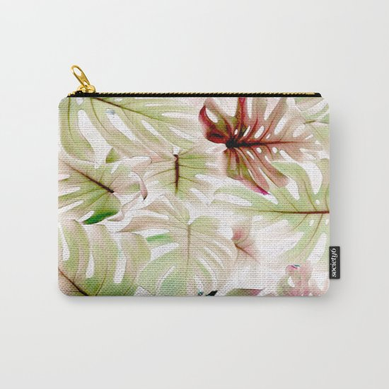 Monstera Pastel  Carry-All Pouch