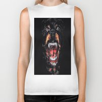 givenchy Biker Tanks featuring Givenchy Dog by I Love Decor