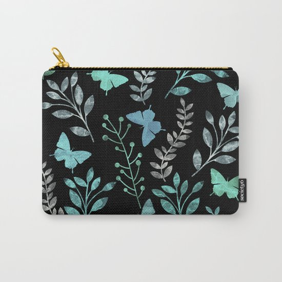 Watercolor flowers & butterflies IV Carry-All Pouch