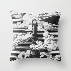 Lord of the Rings Mordor Tower Vintage Geek Art Throw Pillow